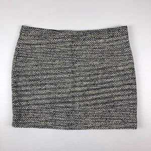 J Crew Women's 10 Wool Black White Mini Skirt